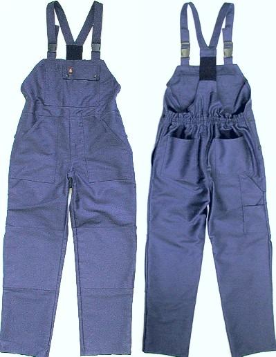 29d32caa55d Valmistatud immutatud sädemekindlast puuvillakangast, tihedus 420 g/m2.  Pükste põlvekohad ja taskukohad on topeltriidest. Rinnal suur tasku.